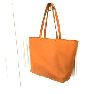 Madewell Abroad Tote- tan leather